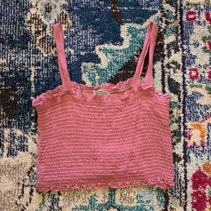Charlotte Russe Cinched Pink Crop Top Tank XL